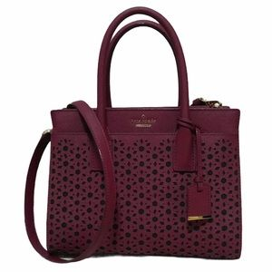 Kate Spade Candace Perforated Leather Satchel